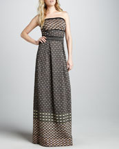 M Missoni Metallic Strapless Maxi Dress