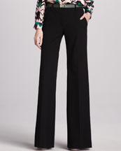 M Missoni Wide-Leg Stretch-Wool Pants