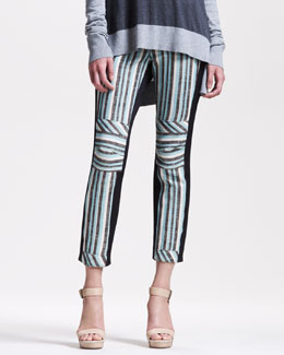 10 Crosby Derek Lam Striped Slim Pants