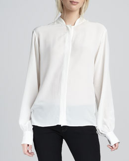 Rachel Zoe Miley Silk Blouse