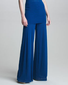 Fuzzi Wide-Leg Jersey Pants