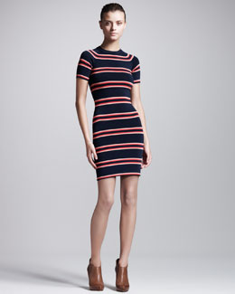 ALC Thompson Striped Raglan Dress