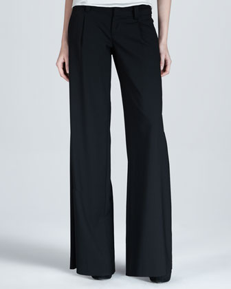 Gathered Chiffon Top & Eric Wide-Leg Pants