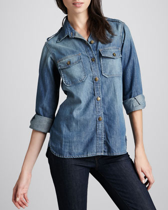 The Perfect Denim Shirt