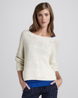 Vince Textured Boat-Neck Sweater
