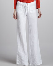 Vince Linen Drawstring Beach Pants