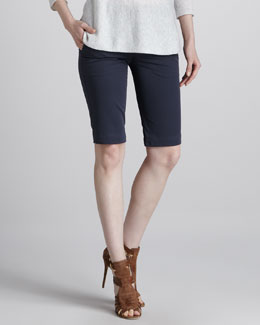 Vince Twill Bermuda Shorts, Military