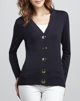 Tory Burch Simone Cardigan, Navy