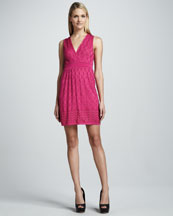 M Missoni Solid Sleeveless V-Neck Dress