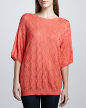 M Missoni Half-Sleeve Sweater