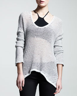 HELMUT Helmut Lang Brushed Sheer-Knit Pullover