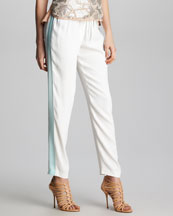 Rebecca Taylor Side-Stripe Track Pants
