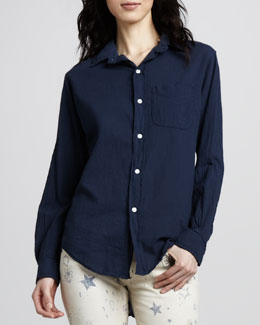 Current/Elliott The Prep School Shirt, Indigo