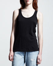 rag & bone/JEAN The Classic Beater Tank, Black