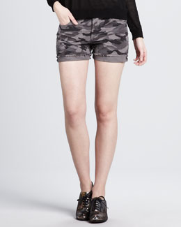 Haute Hippie Cotton Camo Shorts