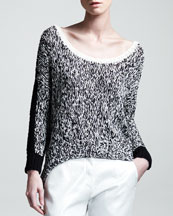 Kelly Wearstler Sulfate Marled Slub Sweater