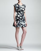 Kelly Wearstler Metamorph Swirl Silk Dress