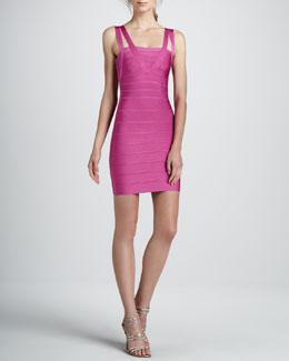 Herve Leger Double-Strap Bandage Dress, Caprice