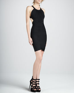Herve Leger Open-Back Scoop-Neck Bandage Dress