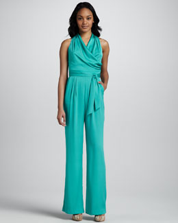 Catherine Malandrino Jumpsuit with Cutout Back