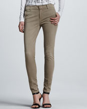 Vince Creased Slim Chino Pants, Quinoa