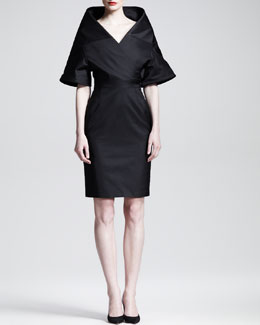 Gareth Pugh Chalice Portrait Collar Dress