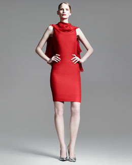 Gareth Pugh Triangle Draped Backless Dress