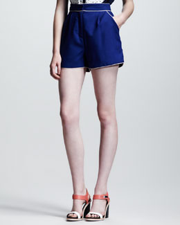 Nonoo Eva Piped Wool Shorts