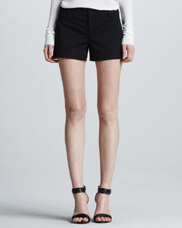 Vince Relaxed Tennis Shorts, Black