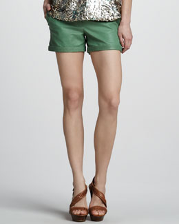 Rachel Zoe Justin Leather Shorts
