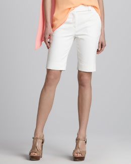 Halston Heritage Cotton Bermuda Shorts