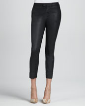7 For All Mankind Coated Black Slim Chinos