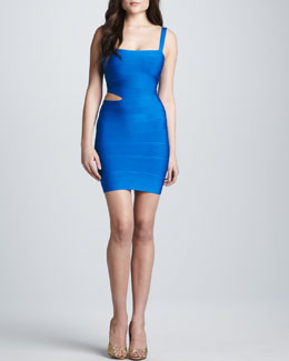 Herve Leger Cutout-Waist Bandage Dress