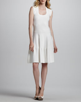 Rebecca Taylor Sleeveless Tiered Circle-Skirt Dress