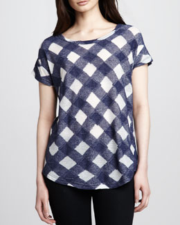 MARC by Marc Jacobs Check Knit Gauze Top