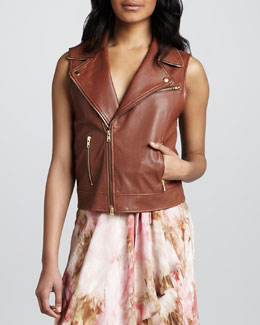 Haute Hippie Leather Biker Vest