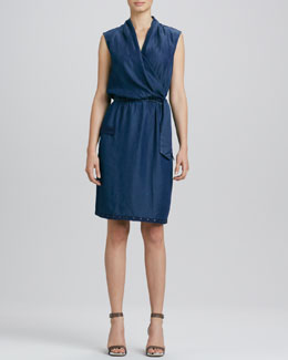 Elie Tahari Halley Waist-Tie Dress