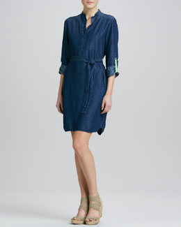 Elie Tahari Maura Chambray Shirtdress