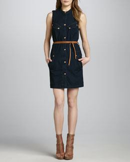 7 For All Mankind Belted Denim Shirtdress