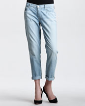 7 For All Mankind Josephina Ship Wrecked Relaxed Cuffed Jeans