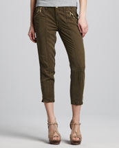 7 For All Mankind Silky Zip Chinos