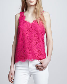 Joie Cina Sleeveless Lace Tank