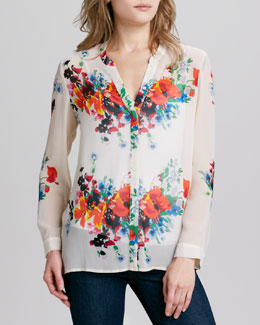 Joie Devitri Floral V-Neck Top