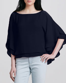 Alice + Olivia Hampton Layered Loose Blouse