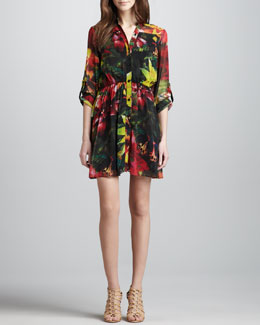 Alice + Olivia Edena Printed Shirtdress