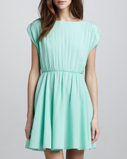 Alice + Olivia Coby Stretch-Silk Dress