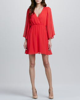 Alice + Olivia Copen Bell-Sleeve Dress
