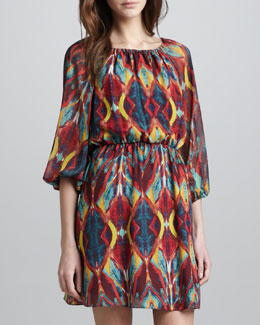 Alice + Olivia Killian Printed Chiffon Dress