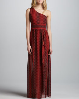 Alice + Olivia Pamela One-Shoulder Maxi Dress