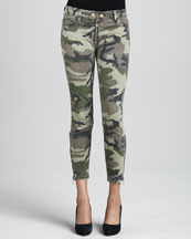 TEXTILE Elizabeth and James Cooper Camo Zip-Leg Skinny Jeans